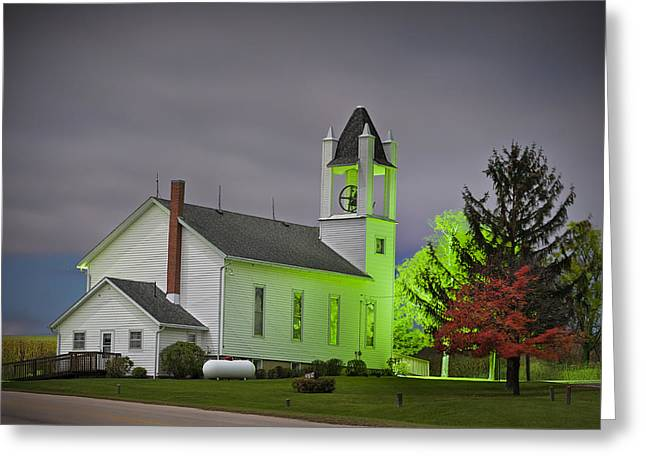 Jo Daviess County Church Greeting Card by Tom Phelan
