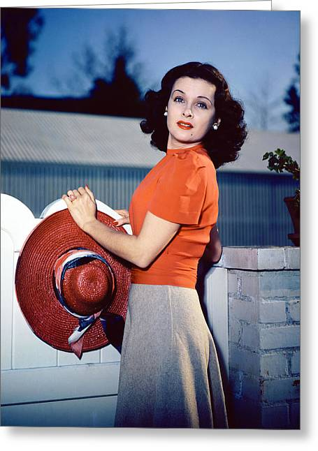 Joan Bennett Greeting Card by Silver Screen