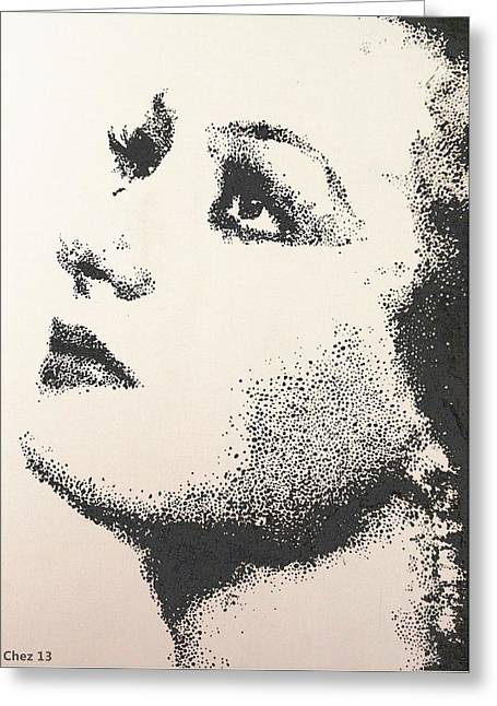 Greeting Card featuring the painting Joan Crawford by Cherise Foster