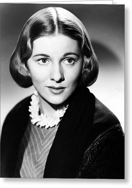 Joan Fontaine In Jane Eyre  Greeting Card