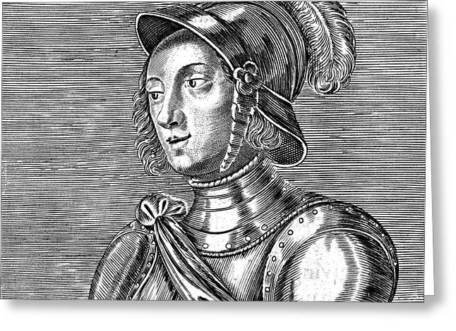 Joan Of Arc  French Heroine Greeting Card by Mary Evans Picture Library