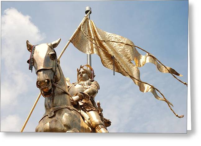 Joan Of Arc Greeting Card by Pamela Schreckengost