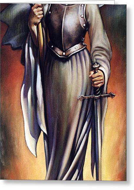 Joan Of Sharc Greeting Card by Patrick Anthony Pierson