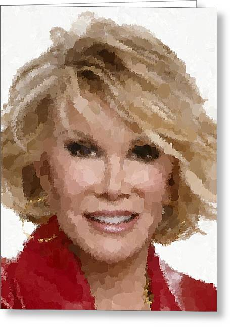 Joan Rivers Portrait Greeting Card