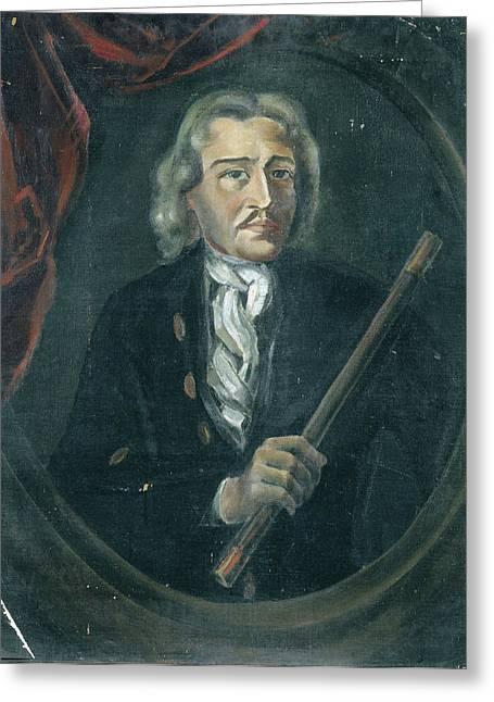 Joan Van Hoorn 1653-1711 Greeting Card