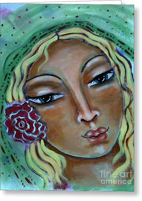 Joanna Greeting Card by Maya Telford