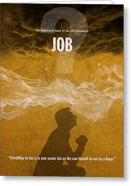 Job Books Of The Bible Series Old Testament Minimal Poster Art Number 18 Greeting Card by Design Turnpike
