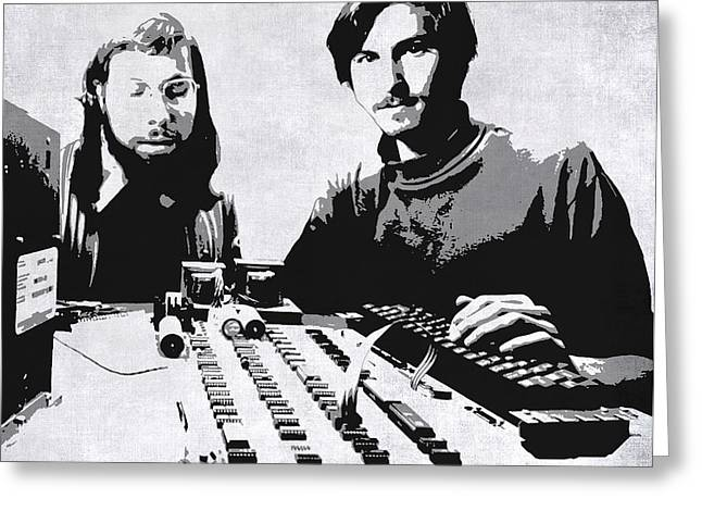 Jobs And Wozniak . . . In The Early Days  Greeting Card