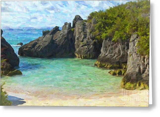 Greeting Card featuring the photograph Jobson Cove Beach by Verena Matthew