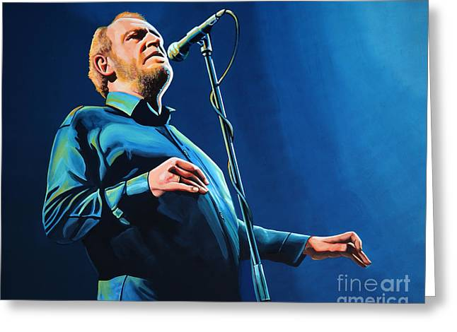 Joe Cocker Painting Greeting Card by Paul Meijering