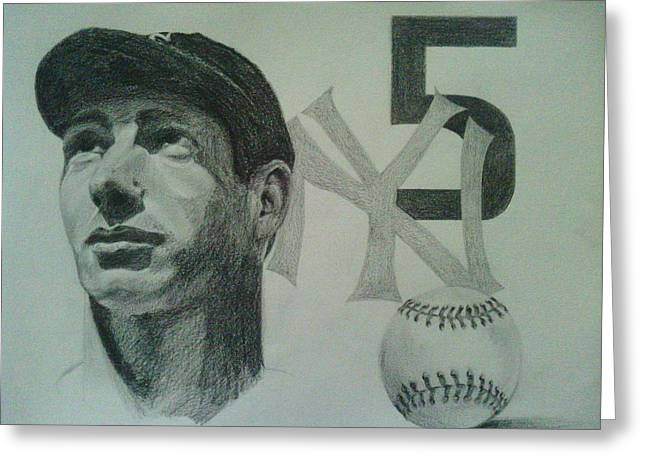 Joe Di Maggio Greeting Card