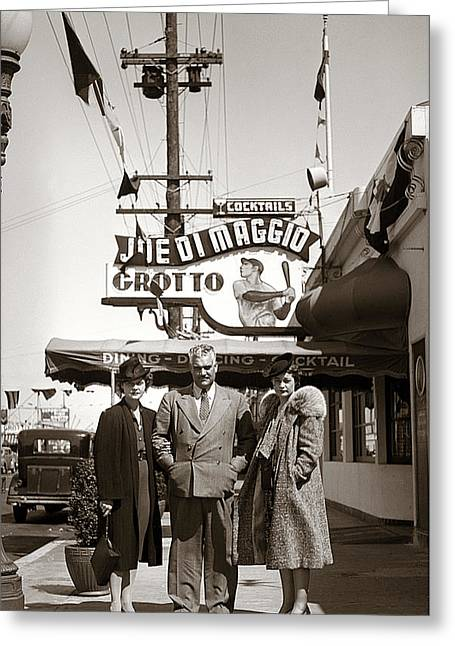 Joe Di Maggio Grotto Greeting Card by Marilyn Hunt