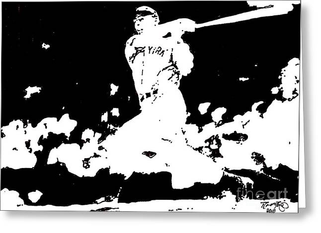 Joe Dimaggio Drawing Greeting Card