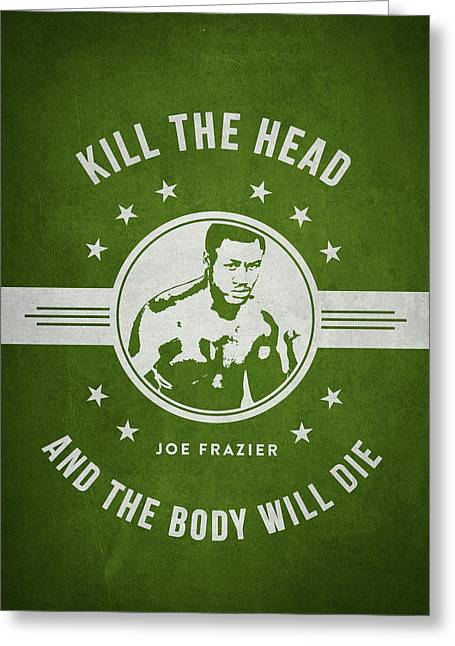 Joe Frazier - Green Greeting Card