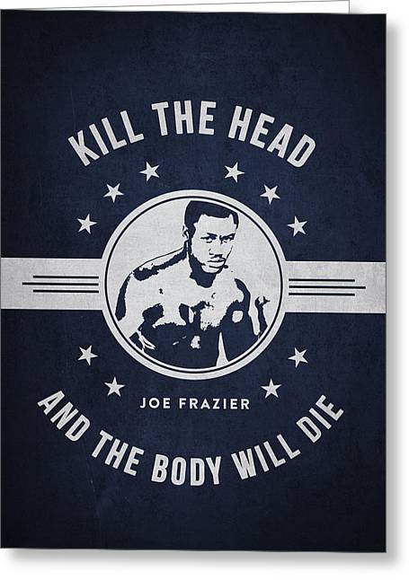 Joe Frazier - Navy Blue Greeting Card