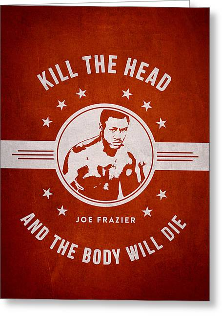 Joe Frazier - Red Greeting Card