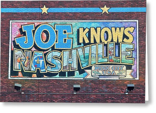 Joe Knows Nashville Greeting Card by Frozen in Time Fine Art Photography
