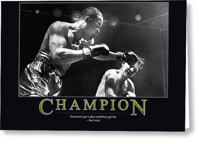 Joe Louis Champion  Greeting Card