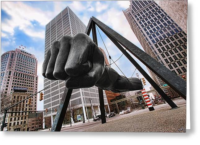 Joe Louis Fist - In Your Face - Version 2 Greeting Card by Gordon Dean II