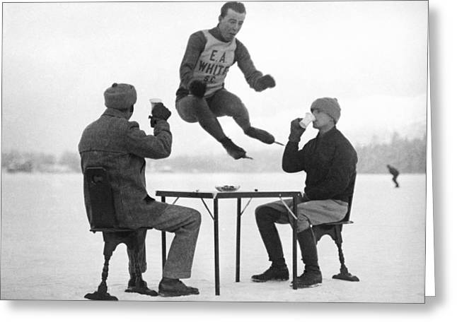 Joe Moore Olympics Training Greeting Card by Underwood Archives