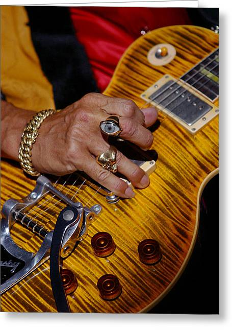 Greeting Card featuring the photograph Joe Perry - Aerosmith by Don Olea