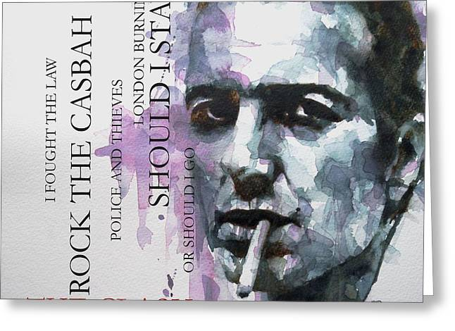 Joe Strummer Greeting Card by Paul Lovering