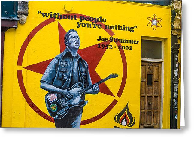 Joe Strummer Without People You're Nothing Greeting Card