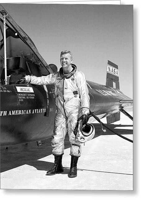Joe Walker As X-15 Test Pilot Greeting Card by Nasa