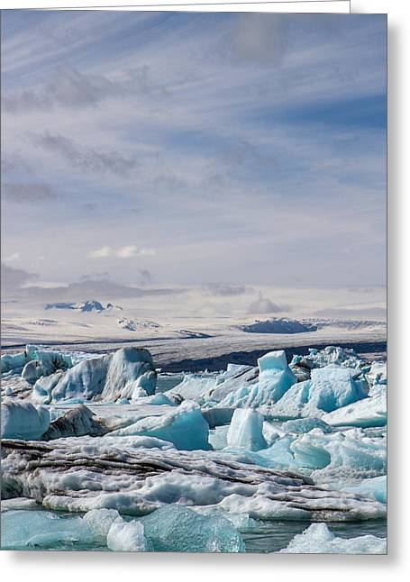 Joekulsarlon Glacial Lagoon Greeting Card by For Ninety One Days