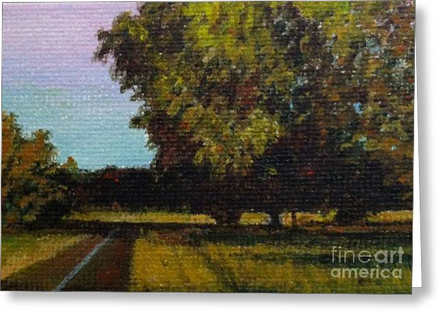 Jogging Trail At Two Rivers Park Greeting Card by Amber Woodrum