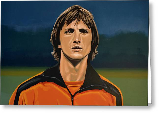 Johan Cruyff Oranje Greeting Card by Paul Meijering