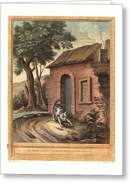 Johann Christoph Teucher After Jean-baptiste Oudry German Greeting Card by English School