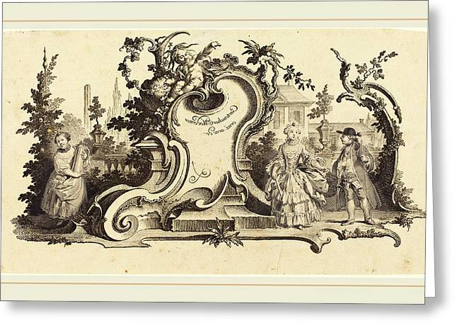Johann Esaias Nilson German, 1721-1788 Greeting Card by Litz Collection