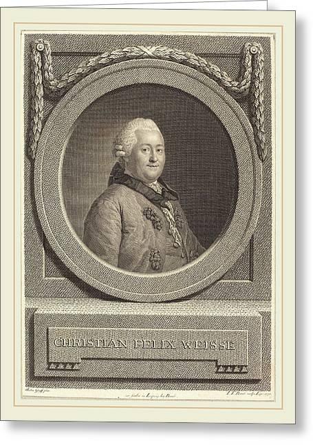 Johann Friedrich Bause After Anton Graff German Greeting Card by Litz Collection