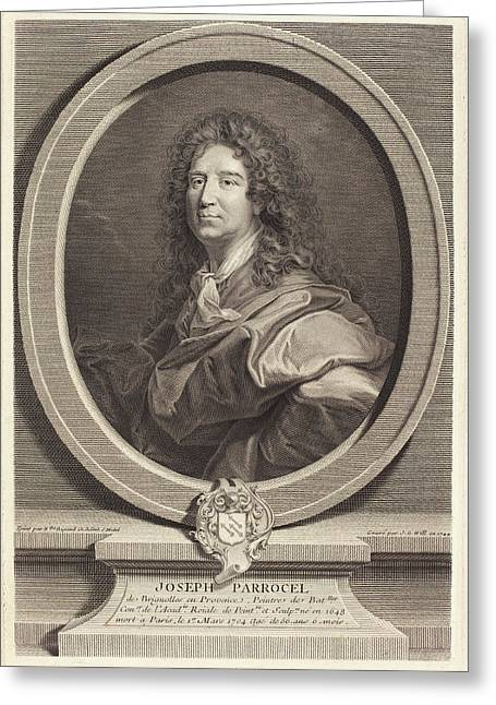 Johann Georg Wille After Hyacinthe Rigaud German Greeting Card by Quint Lox