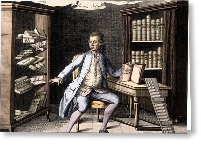 Johann Heinrich Lambert, Swiss Polymath Greeting Card