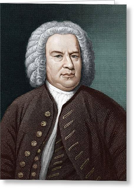 Johann Sebastian Bach (1685-1750) Greeting Card by Science Photo Library