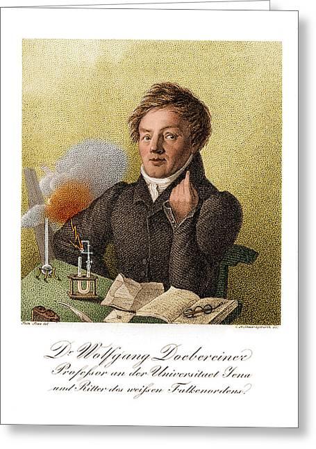 Johann Wolfgang Dobereiner, German Greeting Card
