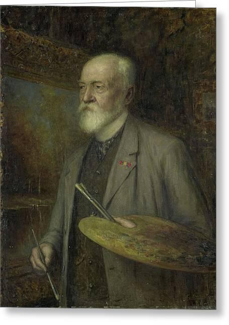 Johannes Gijsbert Vogel 1828-1915 Greeting Card by Litz Collection