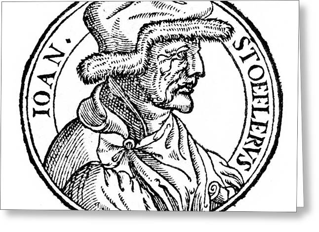 Johannes Stoeffler Greeting Card by Universal History Archive/uig