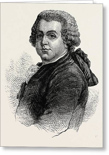 John Adams, He Was The Second President Of The United Greeting Card by American School
