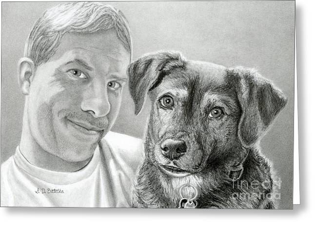 John And Howie Greeting Card by Sarah Batalka