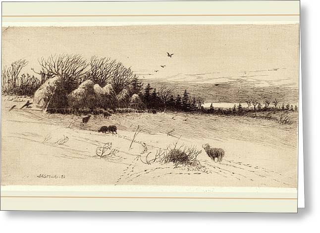 John Austin Sands Monks, Evening After The Storm Greeting Card by Litz Collection