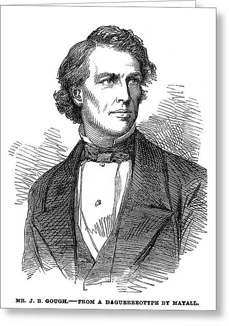 John Bartholomew Gough (1817-1886) Greeting Card by Granger