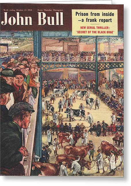 John Bull 1950 1950s Uk Smithfield Greeting Card by The Advertising Archives