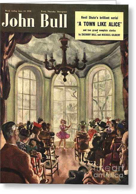 John Bull 1950s Uk Ballet Recitals Greeting Card by The Advertising Archives