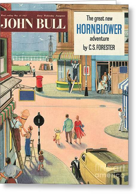 John Bull 1950s Uk Holidays Handymen Greeting Card by The Advertising Archives