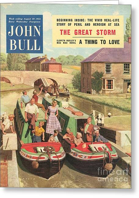 John Bull 1950s Uk Holidays Narrow Greeting Card by The Advertising Archives