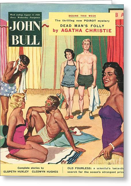 John Bull 1950s Uk Holidays Suntans Greeting Card by The Advertising Archives