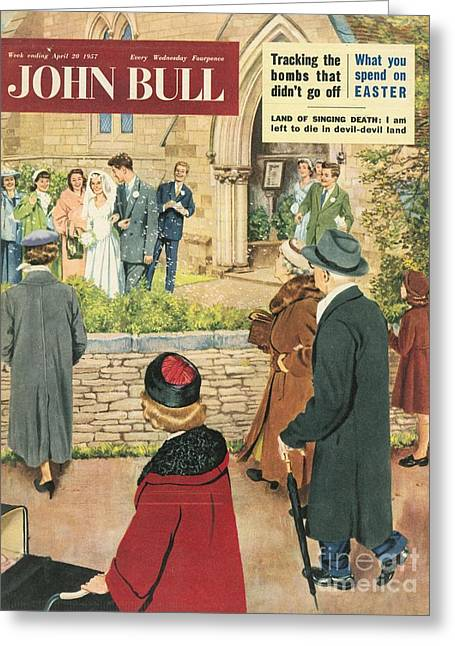 John Bull 1950s Uk Love Marriages Greeting Card by The Advertising Archives
